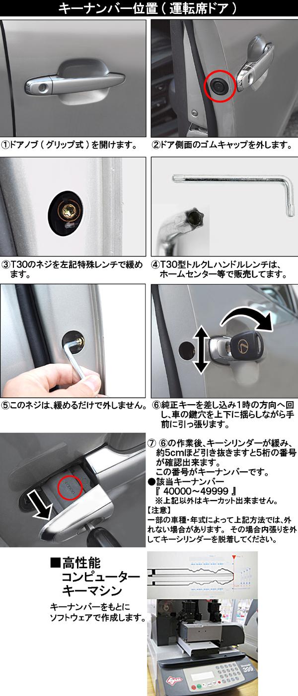 【2個ボタン/レクサス車・レクサスキーカバー&キーセット《キーカット加工済/内溝》リモコン車用/タイプ1】